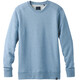 Prana M's Asbury LS Crew Shirt Sunbleached Blue Heather